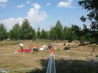 Inceperea instalarii turn meteo Cluj