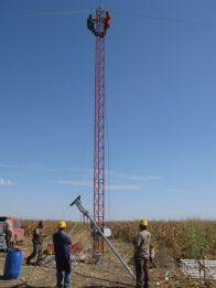 Inceputul montarii unui pilon meteorologic