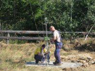 Tensionare cabluri ancorare turn de masura vant